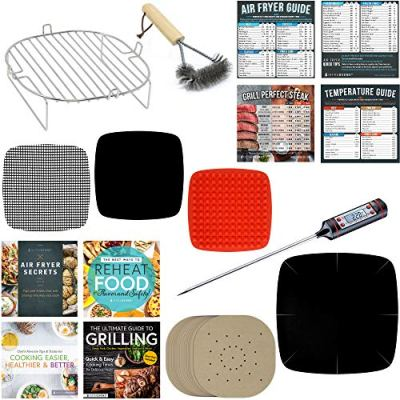 Air Fryer Rack Accessories Compatible Chefman Family Size, Habor, GoWise