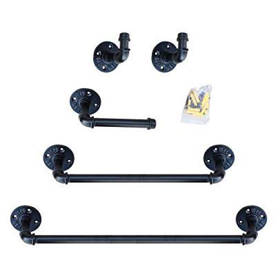 Industrial Pipe Bathroom Hardware Fixture Set | Bathroom Accessories Set