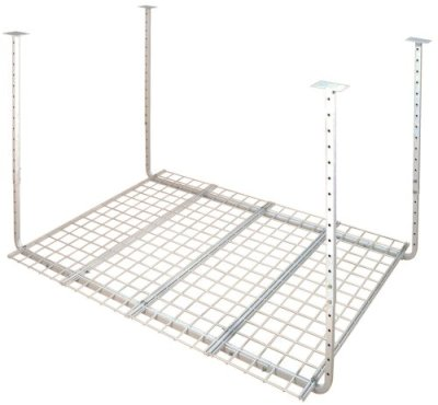 HyLoft 60-Inch by 45-Inch Pro Ceiling Mount Shelf, White