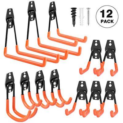 Garage Hooks Heavy Duty, Steel Garage Storage Hooks, Tool Hangers