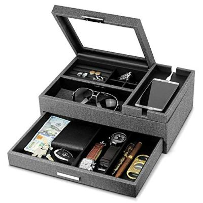 Lifomenz Co Men Accessories Organizer Catchall Tray with Removable Charging