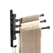 ELLO&ALLO Oil Rubbed Bronze Swing Out Towel Racks for Bathroom Holder