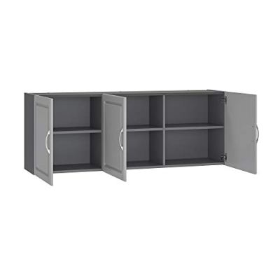 "SystemBuild Kendall 54"" Wall Cabinet, Gray"