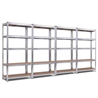 Giantex 4 Pcs 5-Tier Storage Shelves, Garage Shelving Units, Tool Utility Shelves