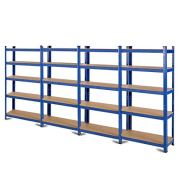 Tangkula Metal Storage Shelves, Heavy Duty Steel Frame 5-Tier Organizer