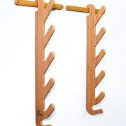 Grassracks - Bamboo Ski Rack | Horizontal Wall-Mounted Indoor and Garage
