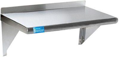 Stainless Steel Wall Shelf | Metal Shelving | Garage, Laundry, Storage, Utility Room
