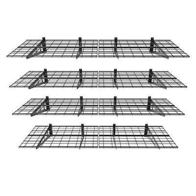 FLEXIMOUNTS 4-Pack Wall Shelf Garage Storage Rack Wall Mounted