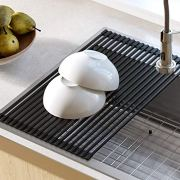 Kraus Silicone-coated stainless steel Over the Sink Multipurpose Roll-Up Dish Drying