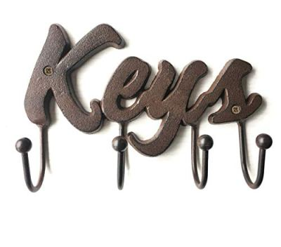 Cast Iron Rustic Key Holder for Wall - Cast Iron Wall Mount Decorative Keys Rack