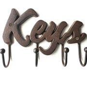 Cast Iron Rustic Key Holder for Wall - Cast Iron Wall Mount Decorative Keys Rack