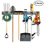 Tool Storage Rack, 8 Piece Garage Organizer, Metal, Wall Mounted