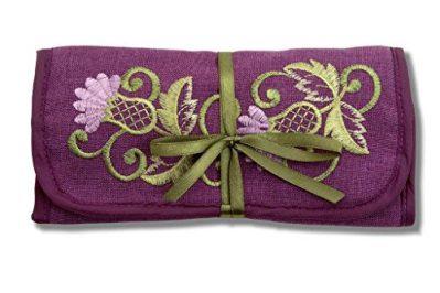 Jewelry Roll in a Glencoe Thistle Design.