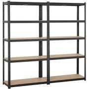 Topeakmart Adjustable 5-Shelf Garage Shelves Metal Storage Rack Shelving Unit