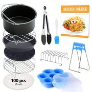 FDA 8 inch XL Air Fryer Accessories 11 pcs with Recipe Cookbook