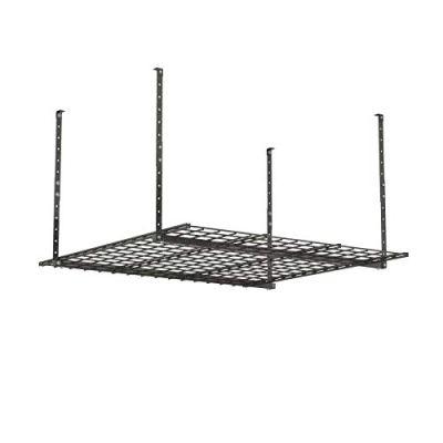 HyLoft 00625 45-Inch by 45-Inch Overhead Storage System, Ceiling Mount Garage Organization Rack, Hammertone (Renewed)