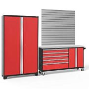 NewAge Products Bold Series 3.0 Red 2 Piece Set, Garage Cabinets