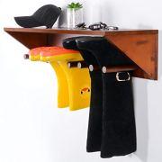 Sunix Boot Rack, Shoe Organizer Pine Wall Mount Boots Storage Rack