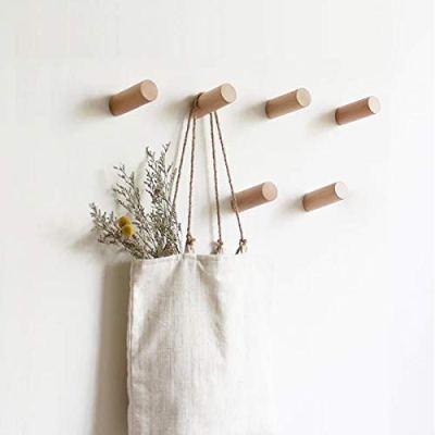 HomeDo Natural Wooden Coat Hooks Wall Mounted Vintage Single Organizer