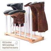INNOKA 6 Pairs Boot Rack Organizer, Standing Wooden & Aluminum Storage