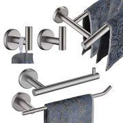 JQK Bathroom Hardware Towel Bar Set, 5-Piece Bath Accessories Set