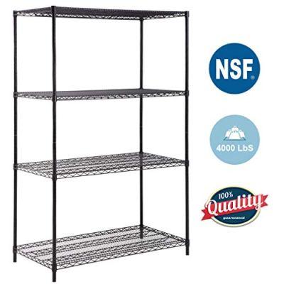 4-TierWireShelvingUnit Steel Large Metal Shelf Organizer Garage Storage Shelves