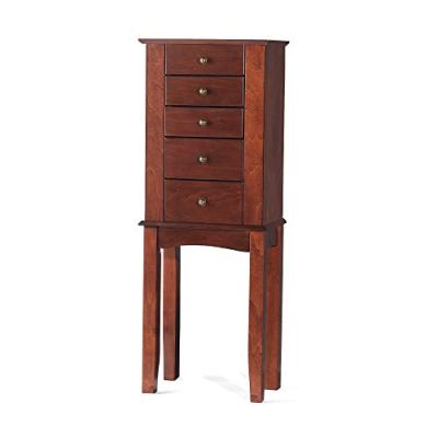 Ross-Simons Walnut Simple Tradition 4-Drawer Jewelry Armoire