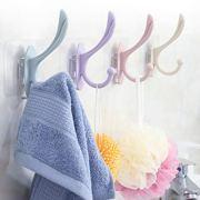Adhesive Towel Hooks, 4 Pack Adhesive Wall Hooks Bathroom Wall Coat Hooks