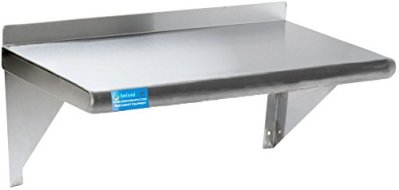 "18"" X 60"" Stainless Steel Wall Shelf 