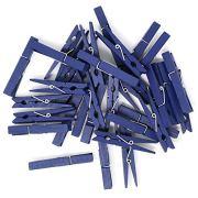 Just Artifacts 2.75-inch Craft Wood Clothespins/Peg Pins (50pcs, Navy Blue)