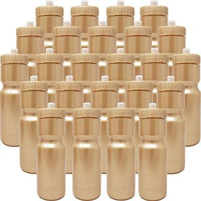50 Strong Sports Squeeze Water Bottle Bulk Pack - 24 Bottles