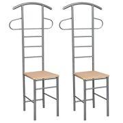 Festnight 2PCS Bedroom Gentleman's Valet Chair Durable Wardrobe Storage