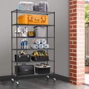 BestMassage 6 Tire Wire Shelving Unit NSF Storage Shelves Large Heavy Duty Metal