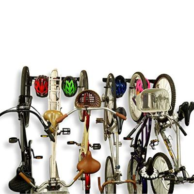 Koova Wall Mount Bike Storage Rack Garage Hanger for 6 Bicycles + Helmets