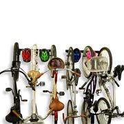 Koova Wall Mount Bike Storage Rack Garage Hanger for 6 Bicycles + Helmets