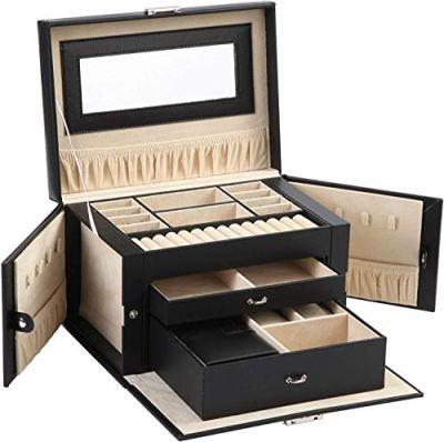 ABO Gear Box Jewelry Case Jewlery Organizers Storage with Lock