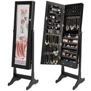 Best Choice Products Full Length Tilting Mirrored Cabinet Jewelry Armoire