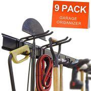 Ultrawall Garage Wall Organizer,9PC Garage Tool Hook