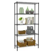 5 Shelf Wire Shelving Unit Garage NSF Metal Shelf Organizer Large Storage Shelves