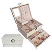 HerFav Jewelry Organizer Box for Women, Lockable Jewelry case