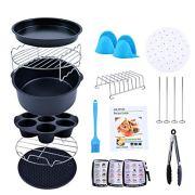 Creativefine Air Fryer Accessories Kit 12 pcs-Roasting Racks with Skewers