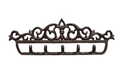 gasare, Key Holder Wall Hooks, Entryway Key Rack, Fleur De Lis Décor
