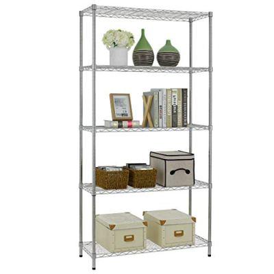 5 Shelf Wire Shelving Unit Garage NSF Wire Shelf Metal Large Storage Shelves