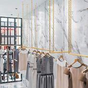 FURVOKIA 2 Pcs Adjustable Height Creative Iron Chain Clothing Hanging Racks