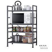 EKNITEY Metal Storage Rack, Adjustable Steel Shelving Units Utility Storage Shelf