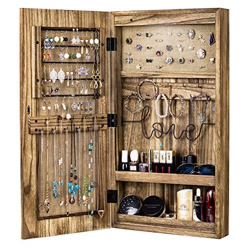 SRIWATANA Jewelry Cabinet Armoire, Solid Wood Jewelry ...