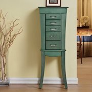 Grace - Eiffel 5 Drawers Jewelry Armoire - Sea Green