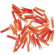 Just Artifacts 2.75-inch Craft Wood Clothespins/Peg Pins (100pcs, Orange & Red)