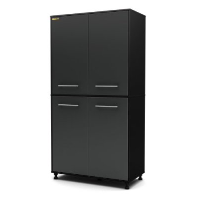 South Shore Karbon 4-Door Tall Storage Cabinet with Adjustable Legs