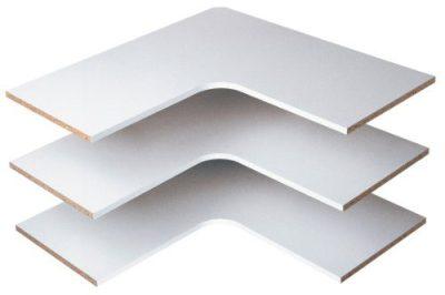 "Easy Track Corner Shelves (3 Pack) 30""x30"" Closet Storage"